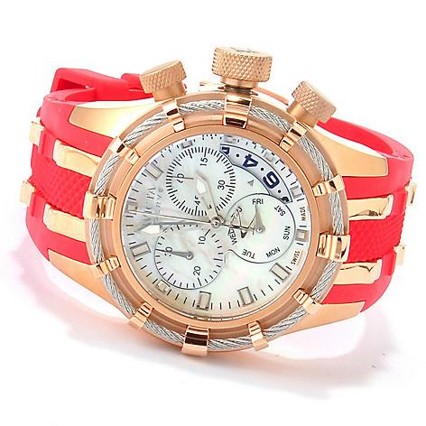 607-369 - Invicta Reserve Women's Bolt Swiss Made Quartz Chronograph Strap Watch w/ Three-Slot Dive Case