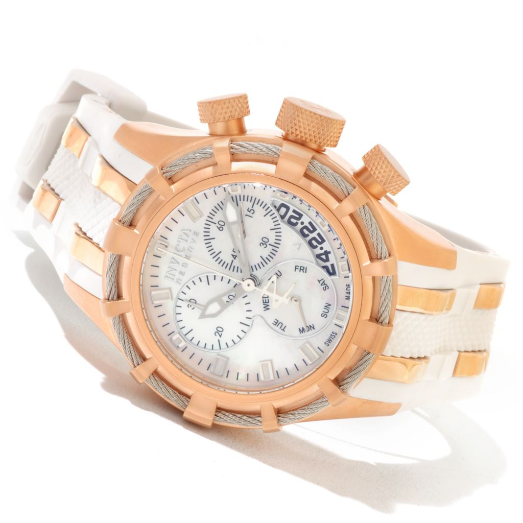 607-414 - Invicta Reserve Women's Bolt Swiss Made Quartz Chronograph Strap Watch w/ Three-Slot Dive Case