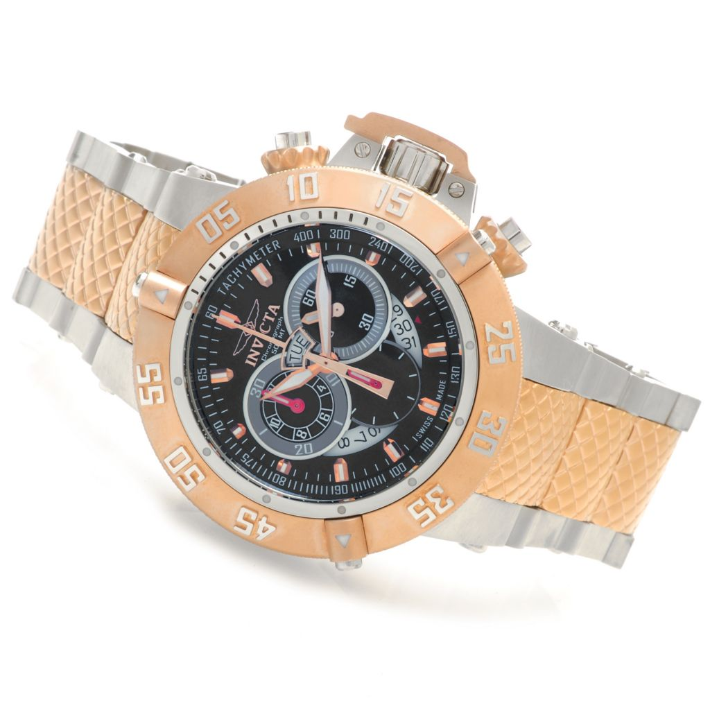 607-429 - Invicta 50mm Subaqua Noma III Swiss Chronograph Stainless Steel Bracelet Watch
