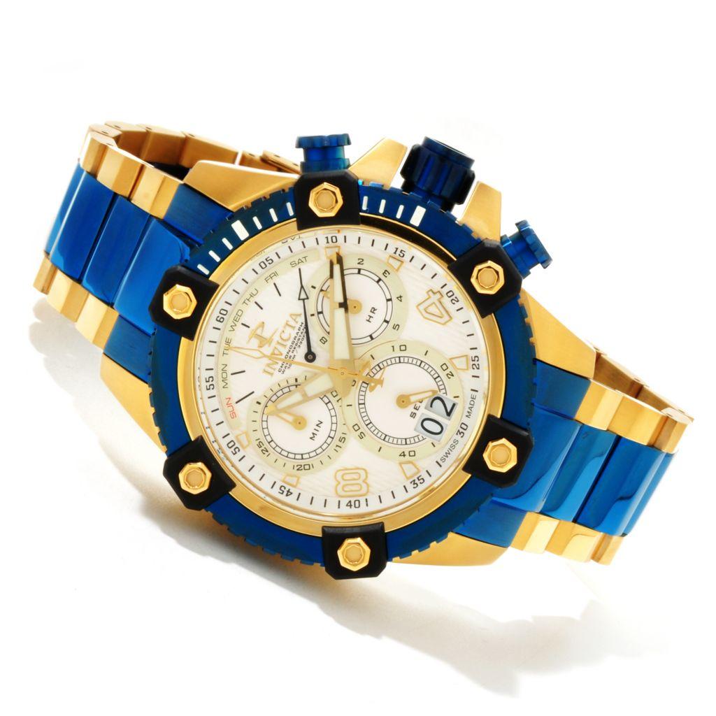 607-589 - Invicta Reserve 48mm Swiss Made Quartz Chronograph Bracelet Watch w/ Three-Slot Dive Case