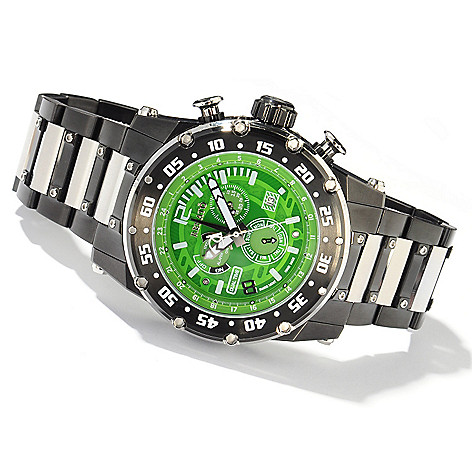 607-696 - Renato Men's Buzo Extreme Swiss Quartz GMT Multifunction Bracelet Watch