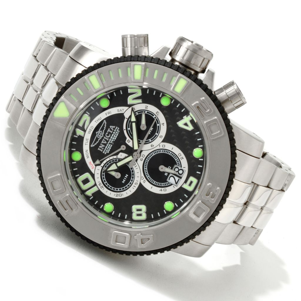 607-744 - Invicta Men's Sea Hunter Swiss Quartz Chronograph Carbon Fiber Bracelet Watch