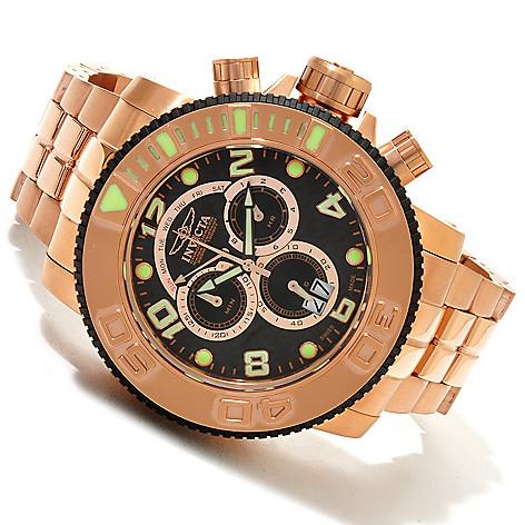 607-745 - Invicta Men's Sea Hunter Swiss Quartz Chronograph Carbon Fiber Dial Stainless Steel Bracelet Watch