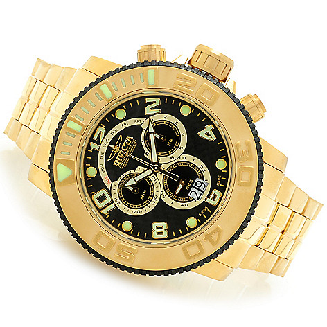 607-748 - Invicta Men's Sea Hunter Swiss Quartz Chronograph Mother-of-Pearl Dial Bracelet Watch