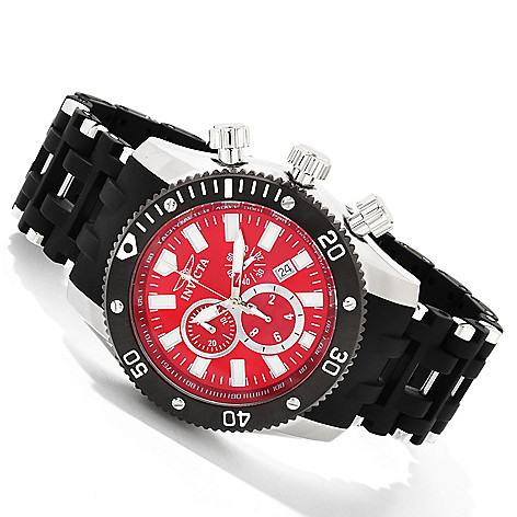 607-837 - Invicta 50mm Sea Spider Quartz Chronograph Stainless Steel & Polyurethane Bracelet Watch