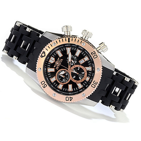 607-838 - Invicta 50mm Sea Spider Quartz Chronograph Polyurethane Bracelet Watch