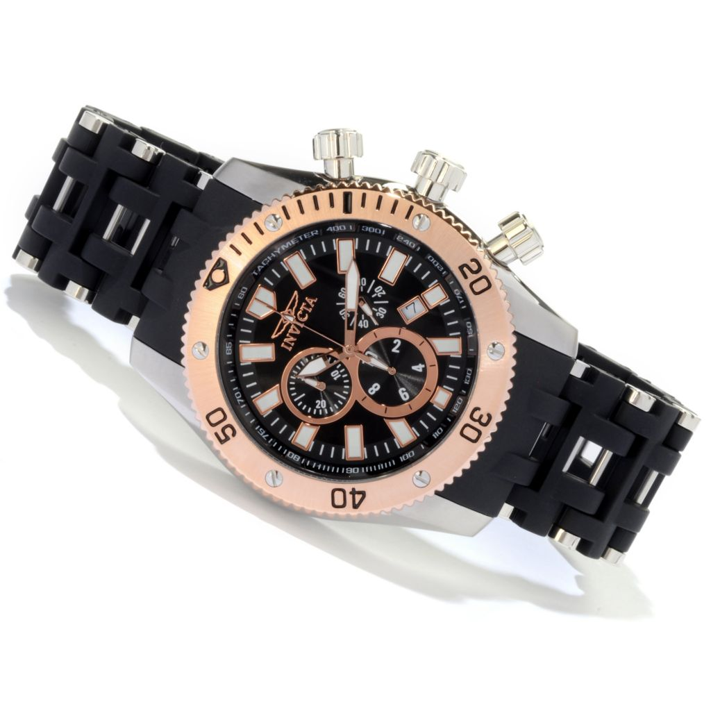 607-838 - Invicta Men's Sea Spider Quartz Chronograph Polyurethane Bracelet Watch