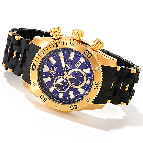 607-839 - Invicta 50mm Sea Spider Quartz Chronograph Stainless Steel & Polyurethane Bracelet Watch