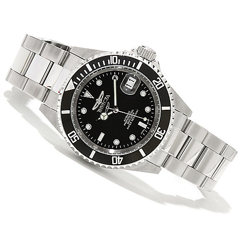 607-843 - Invicta 40mm Pro Diver Automatic Exhibition Stainless Steel Bracelet Watch
