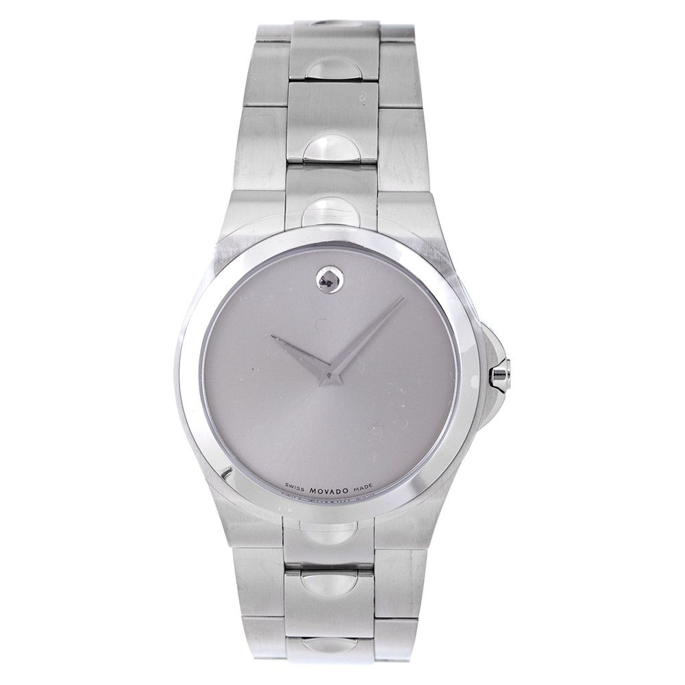 608-073 - Movado 39mm Luno Stainless Steel Bracelet Watch