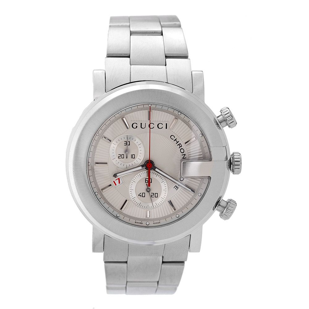 608-131 - Gucci Men's G Chronograph Stainless Steel Bracelet Watch