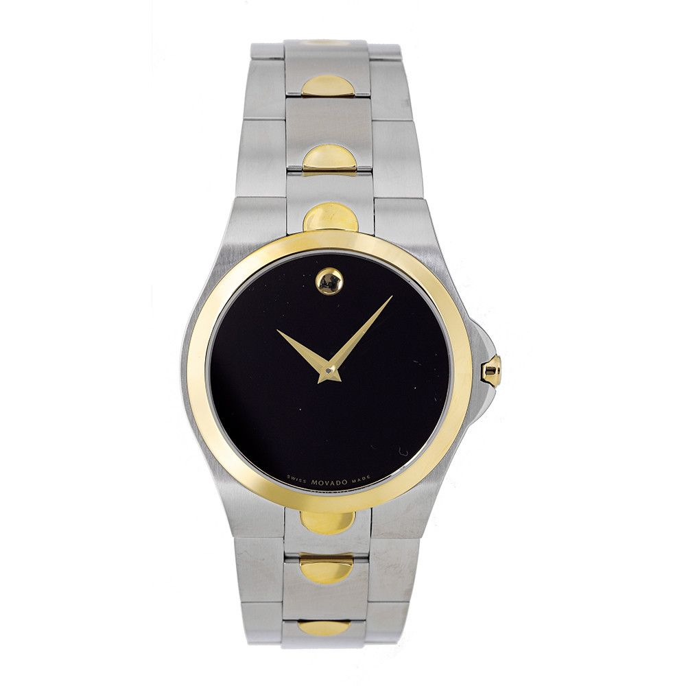 608-247 - Movado Men's Luno Two-Tone Stainless Steel Bracelet Watch