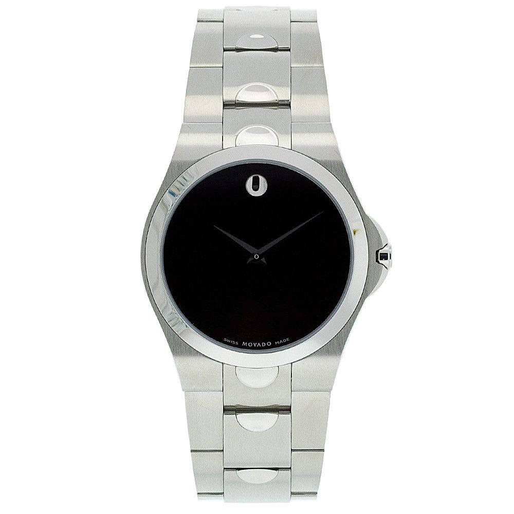 608-255 - Movado Men's Silver-Tone Stainless Steel Bracelet Watch