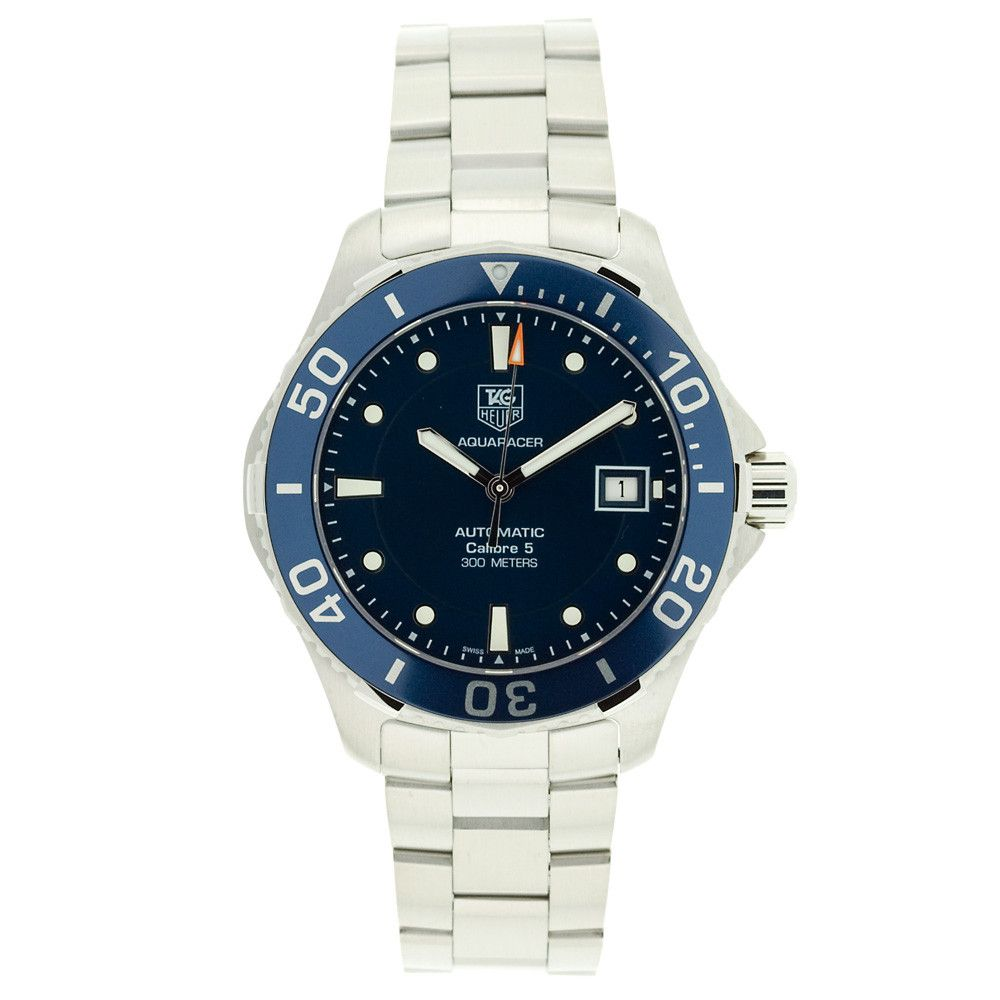 608-366 - Tag Heuer Men's Blue Dial & Stainless Steel Bracelet Watch