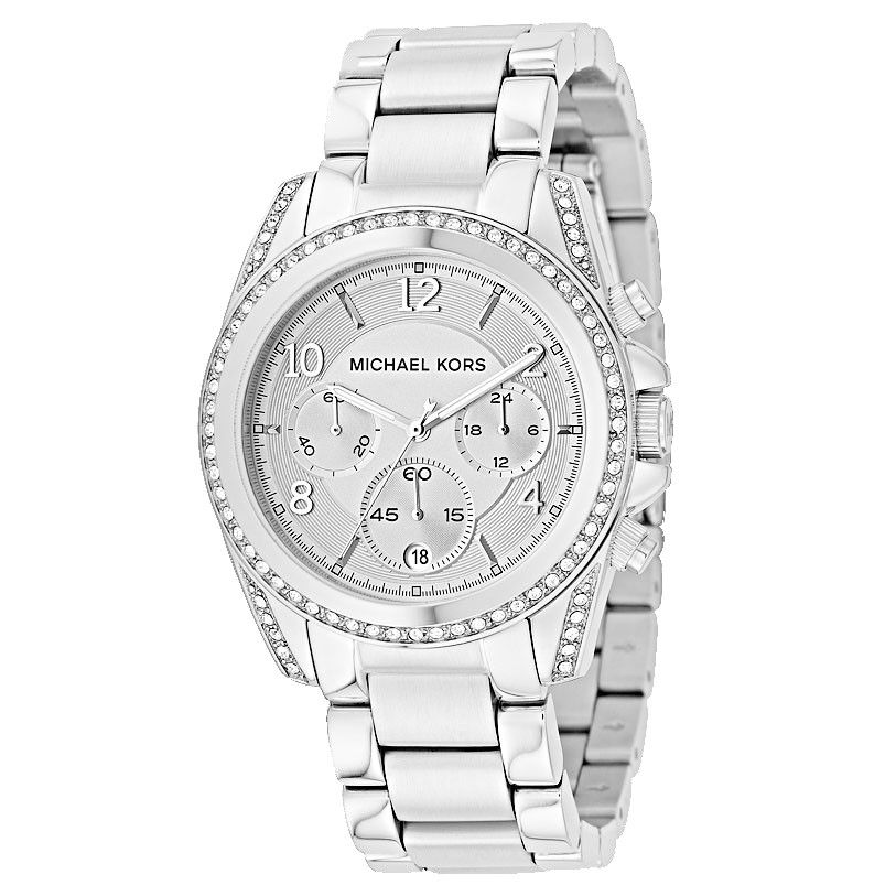 609-015 - Michael Kors Jet Set Women's Quartz Chronograph Stainless Steel Bracelet Watch