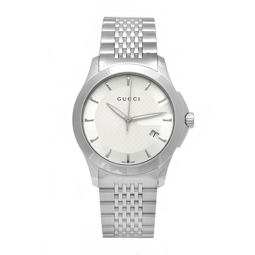 609-375 - Gucci Women's Timeless Swiss Quartz Stainless Steel Bracelet Watch