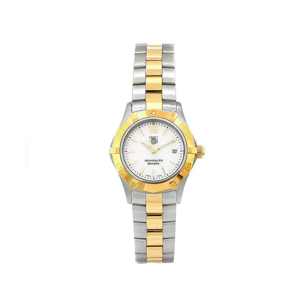 609-509 - Tag Heuer Women's Aquaracer Swiss Quartz Silver-tone Dial Two-tone Bracelet Watch