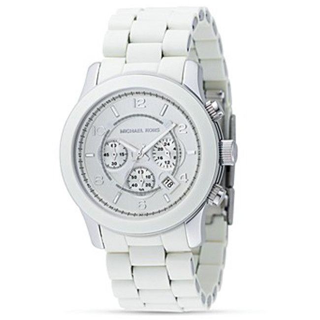 610-089 - Michael Kors Men's Jetset Quartz Chronograph White Stainless Steel Bracelet Watch