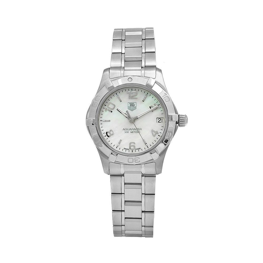 610-378 - Tag Heuer Aquaracer Women's Swiss Quartz Round Mother-of-Pearl Dial Bracelet Watch