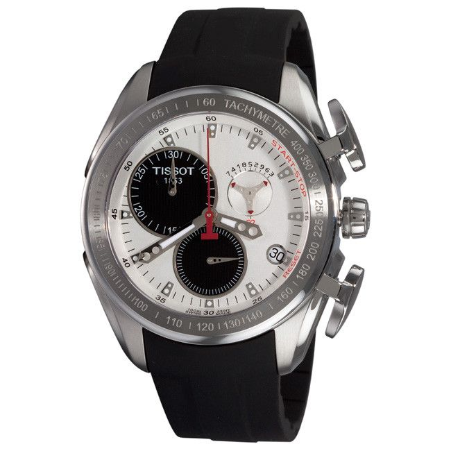 610-551 - Tissot Men's Swiss Quartz Chronograph, Date window, Tachymeter Rubber Strap Watch