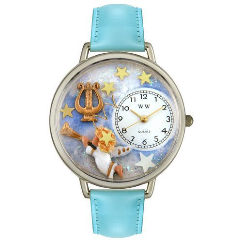 611-247 - Whimsical Watches Mid-Size Angel w/ Harp Quartz Movement Miniature Detail Strap Watch