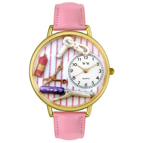 611-322 - Whimsical Watches Mid-Size Beautician Quartz Movement Miniature Detail Strap Watch