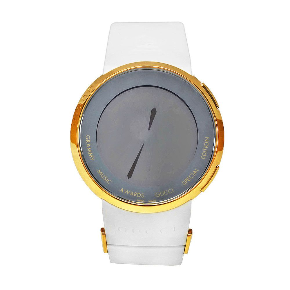 611-353 - Gucci Men's Swiss Quartz Digital Limited Edition Grammy Music Awards White Rubber Strap Watch