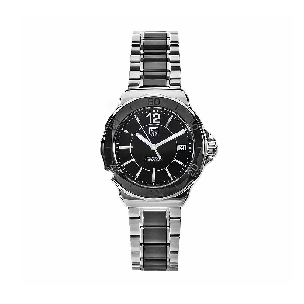 611-590 - Tag Heuer Women's Formula 1 Swiss Quartz Black Dial Stainless Steel Bracelet Watch