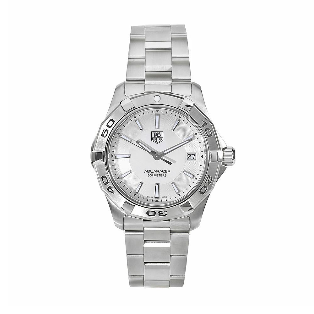 611-592 - Tag Heuer 40mm Aquaracer Swiss Quartz Silver-tone Stainless Steel Watch
