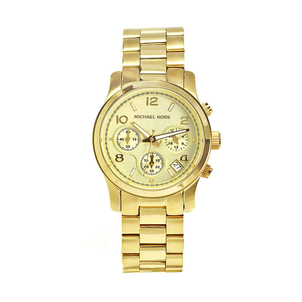 611-596 - Michael Kors Women's Jet Set Quartz Gold-tone Bracelet Watch