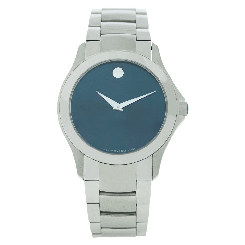 612-094 - Movado 30mm Masino Blue Dial Silver-tone Stainless Steel Bracelet Watch