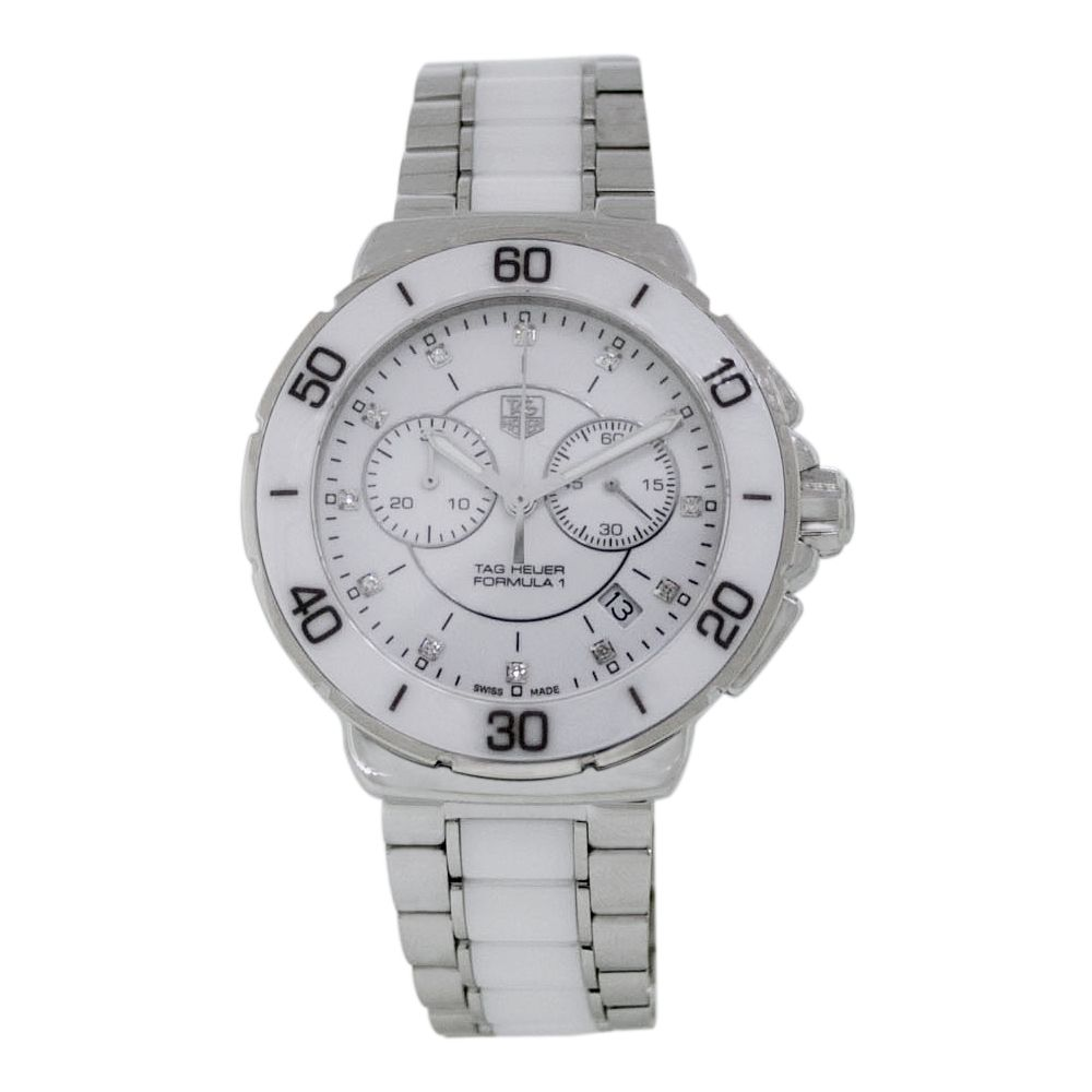 612-113 - Tag Heuer Women's Formula 1 Swiss Made Quartz Chronograph Diamond Accented Bracelet Watch