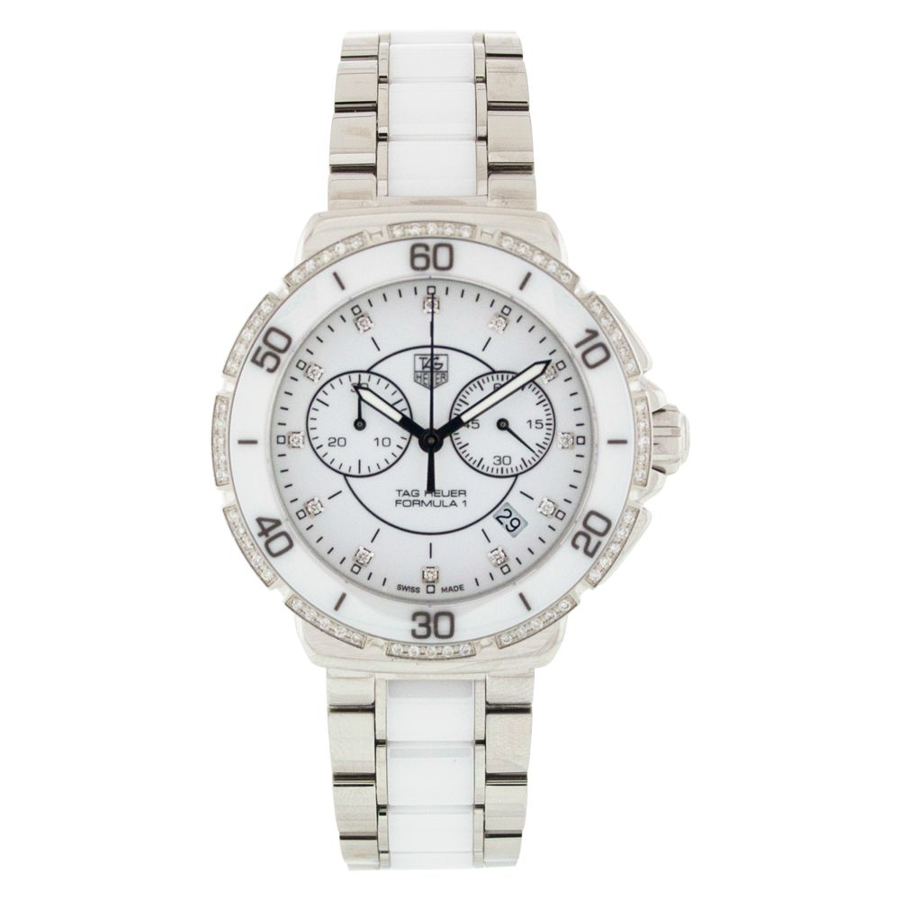 612-118 - Tag Heuer Women's Formula One Swiss Quartz Chronograph Diamond Accent Stainless Steel Bracelet Watch
