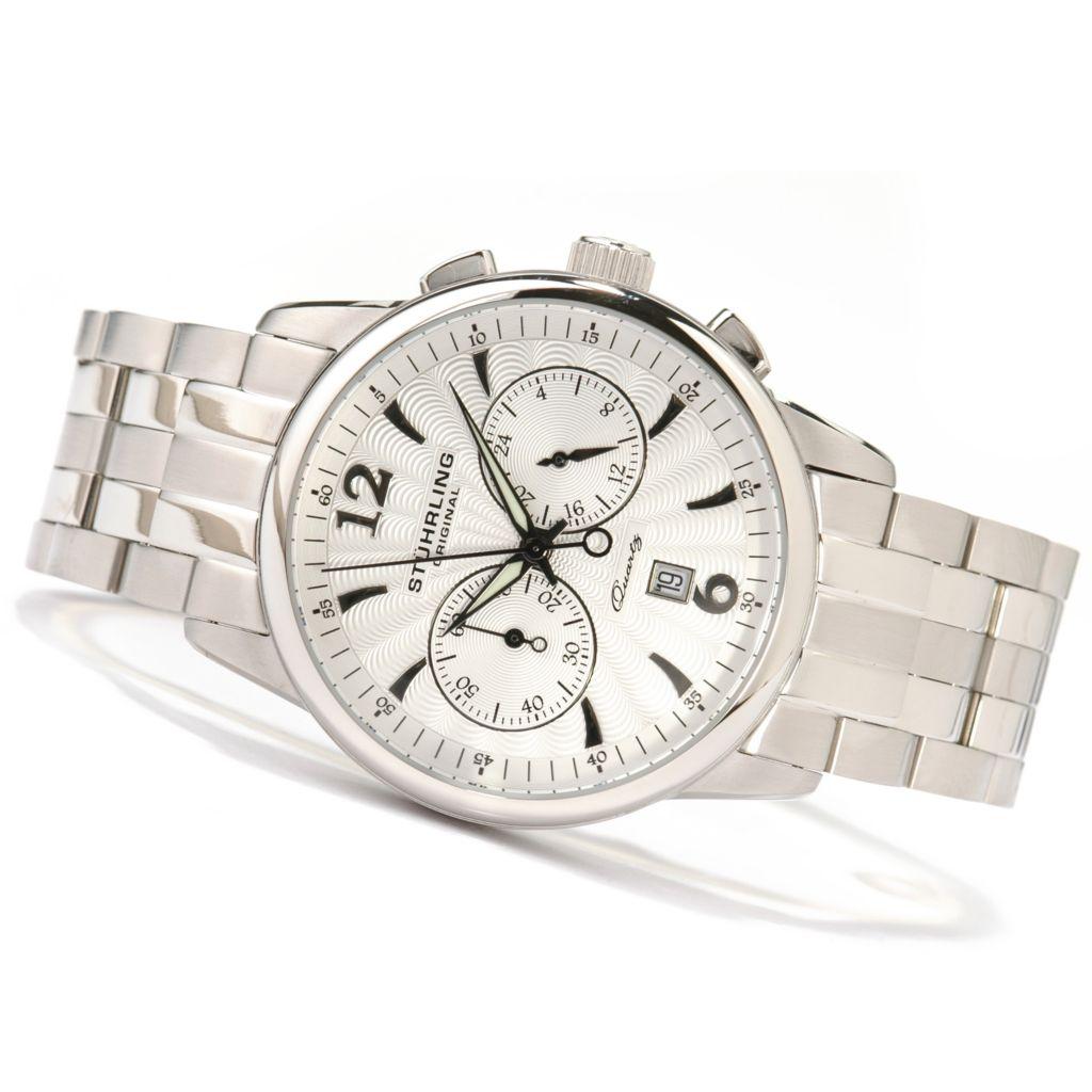 612-160 - Stührling Original 42mm Elite Chronograph Stainless Steel Watch