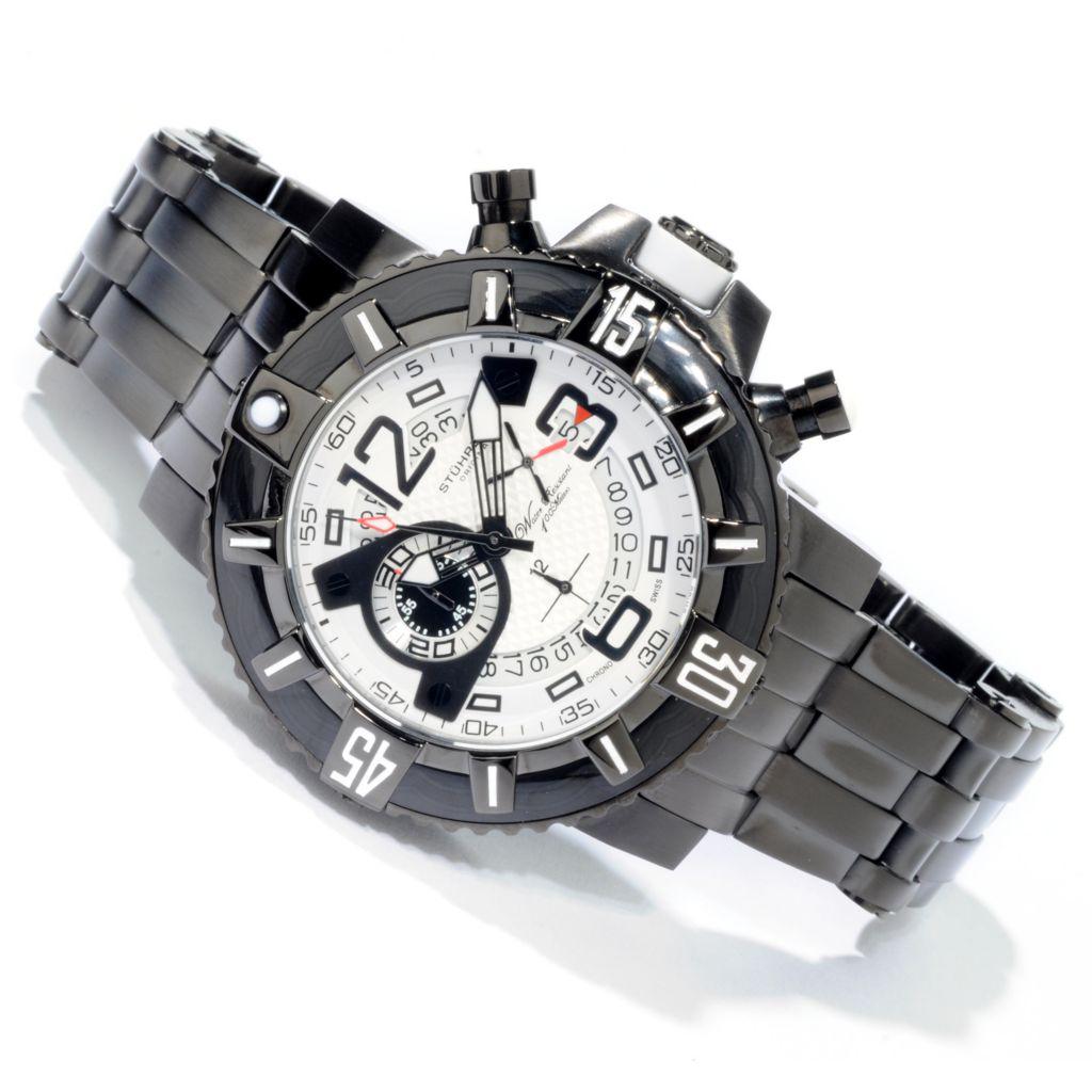 612-225 - Stührling Original 48mm Challenger Pro Quartz Chronograph Stainless Steel Bracelet Watch