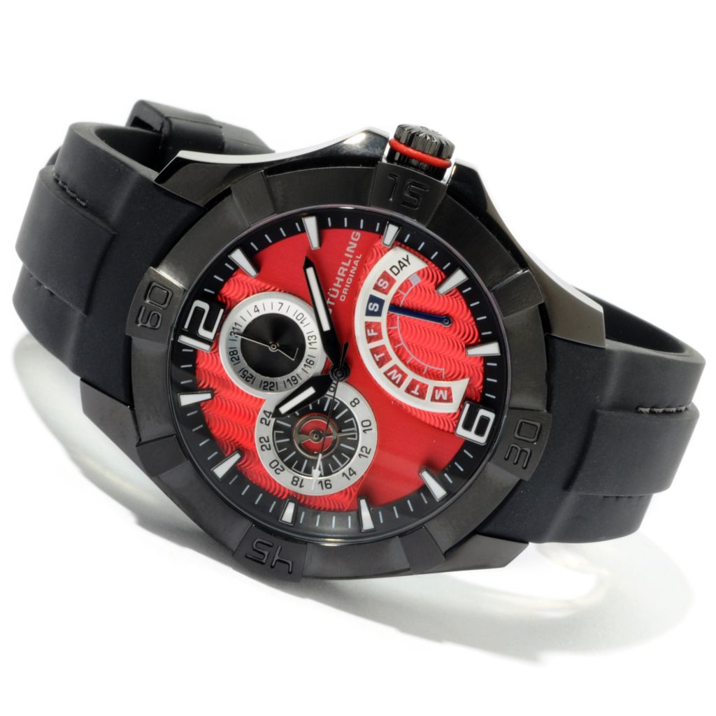 612-232 - Stührling Original Men's Gen-X Quartz Rubber Strap Watch