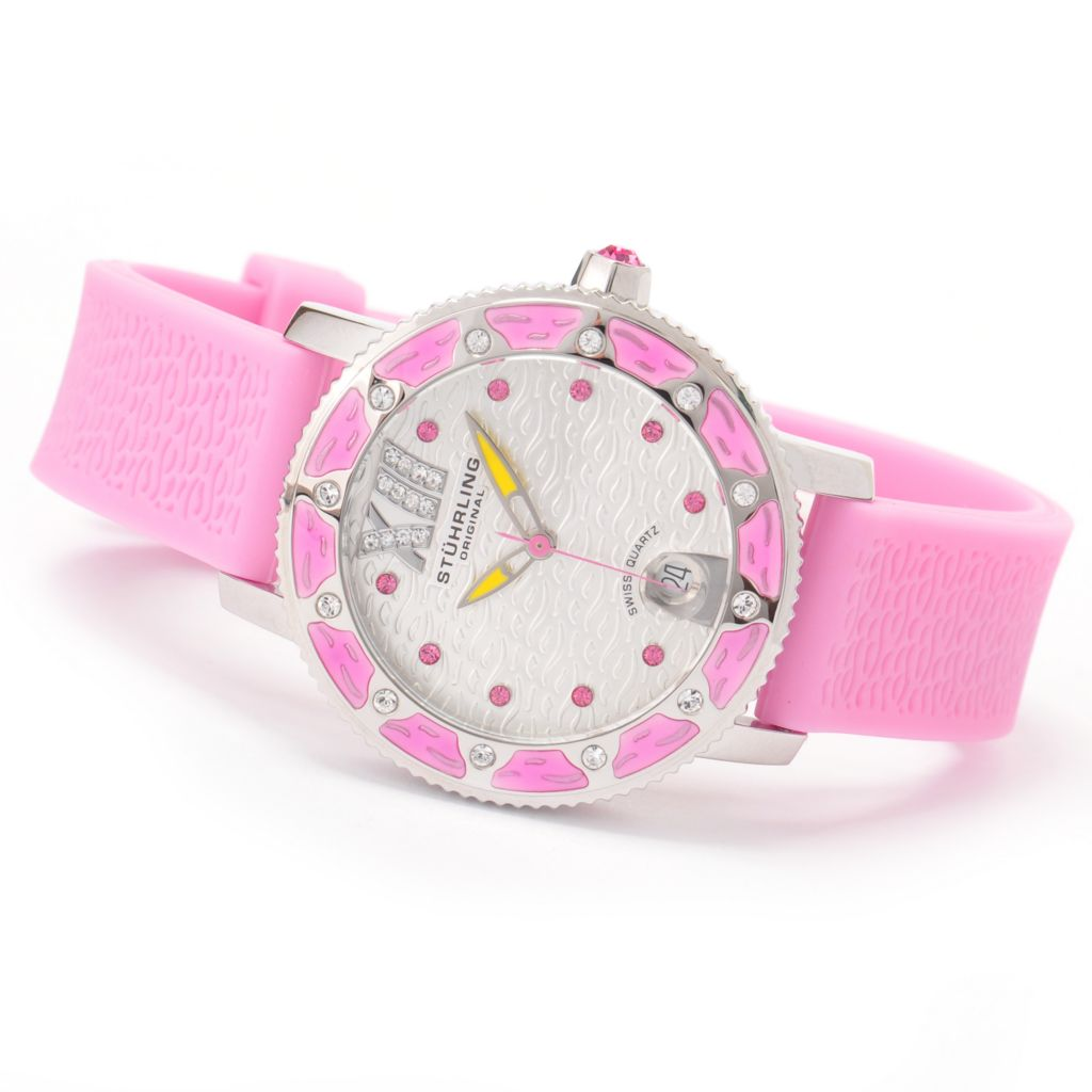 612-233 - Stührling Original Women's Marina Sport Edition Quartz Rubber Strap Watch