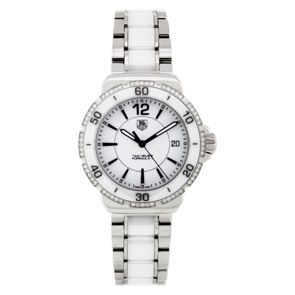 612-546 - Tag Heuer Women's Formula 1 Swiss Quartz Diamond Accent Ceramic & Stainless Steel Bracelet Watch