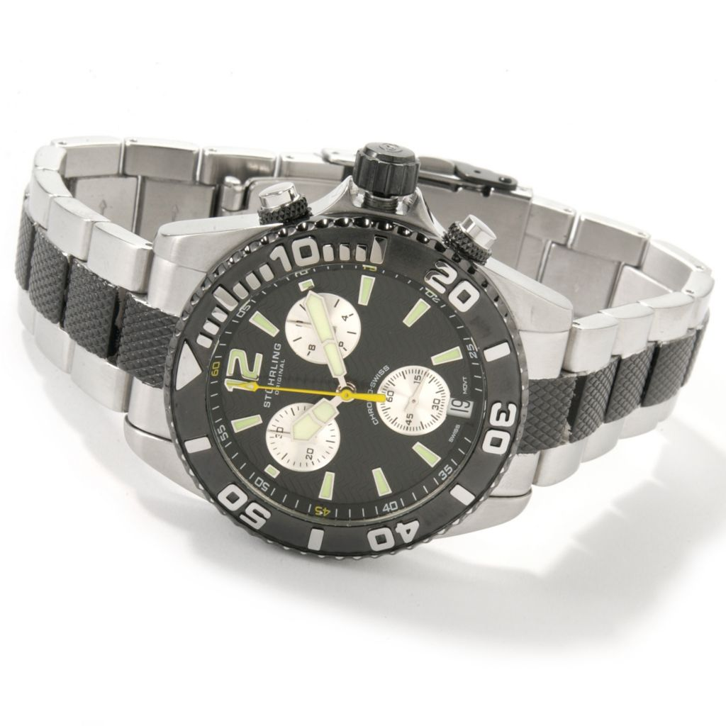 612-915 - Stührling Original Men's Stellar Sea Lion II Quartz Chronograph Bracelet Watch