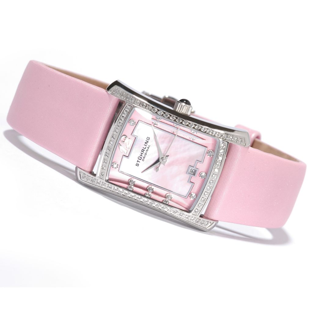 612-920 - Stührling Original Women's Lady Gatsby La Femme Leather Strap Watch