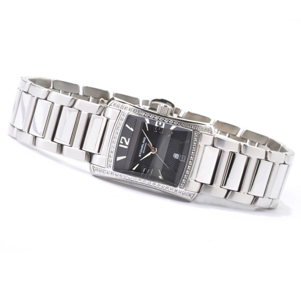 612-929 - Stührling Original Women's Gatsby High Society II Gemstone Watch