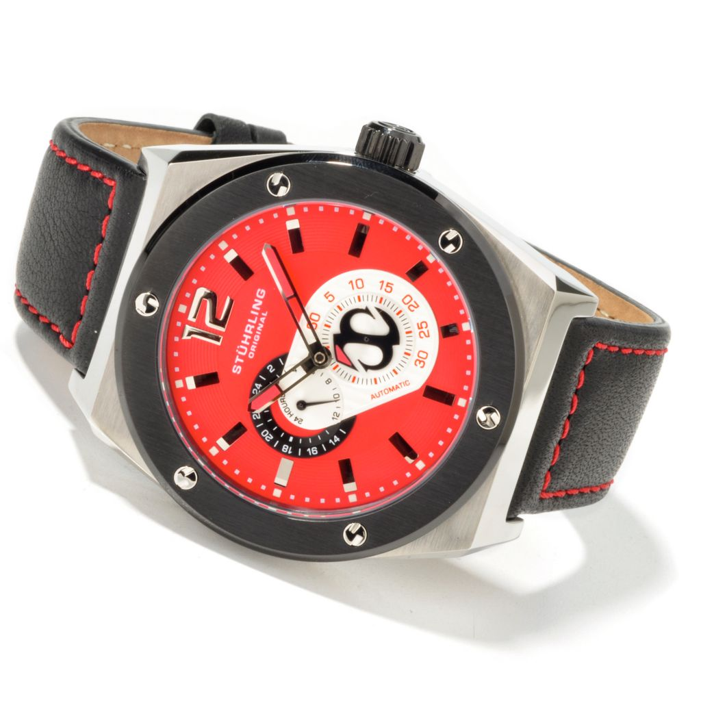 612-933 - Stührling Original 49mm Esprit Automatic 24-Hour Indicator Watch