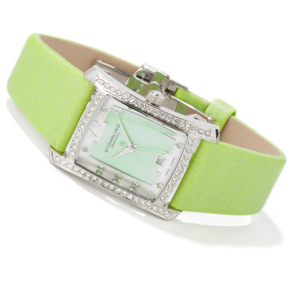 612-937 - Stührling Original Women's Gatsby Girl Swiss Quartz Leather Strap Watch