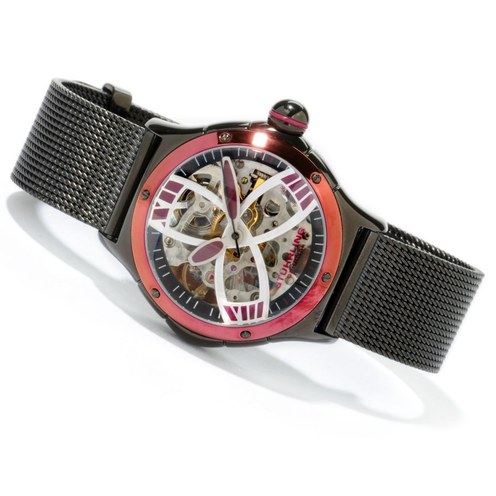 612-946 - Stührling Original Women's Alpine Slalom Automatic Mesh Bracelet Watch