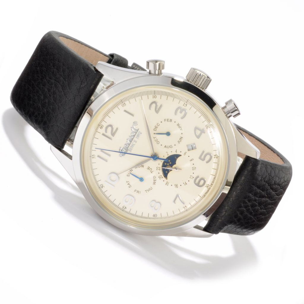 613-011 - Ingersoll 44mm Union Automatic Leather Strap Watch