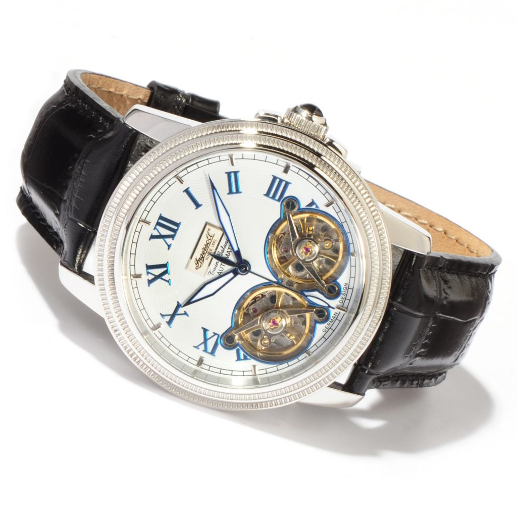 613-035 - Ingersoll Men's Nashville Automatic Leather Strap Watch