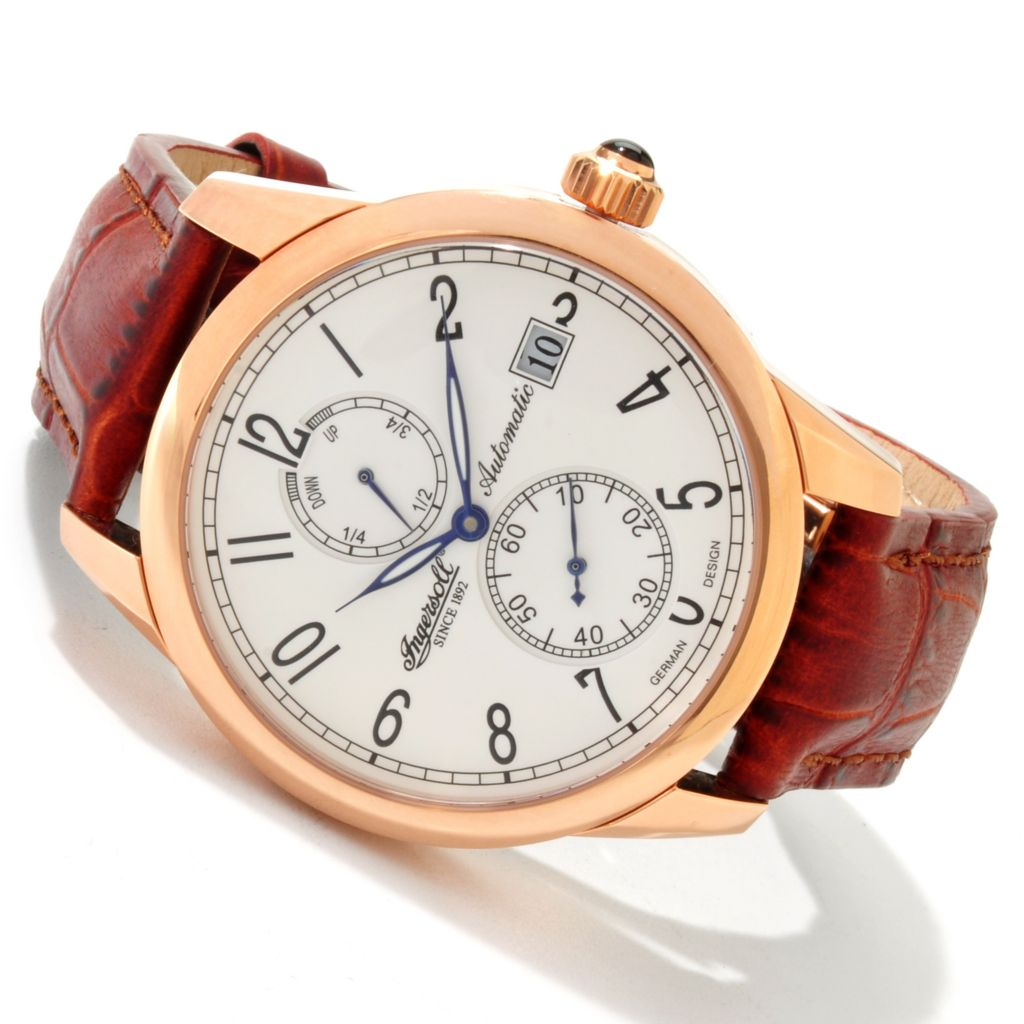 613-041 - Ingersoll Men's Remington Automatic Leather Strap Watch