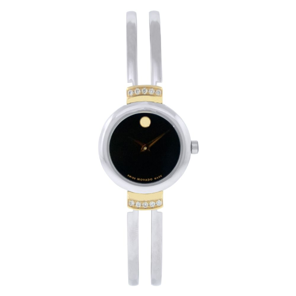613-068 - Movado Women's Harmony Swiss Quartz Crystal Accent Silver-tone Stainless Steel Bracelet Watch