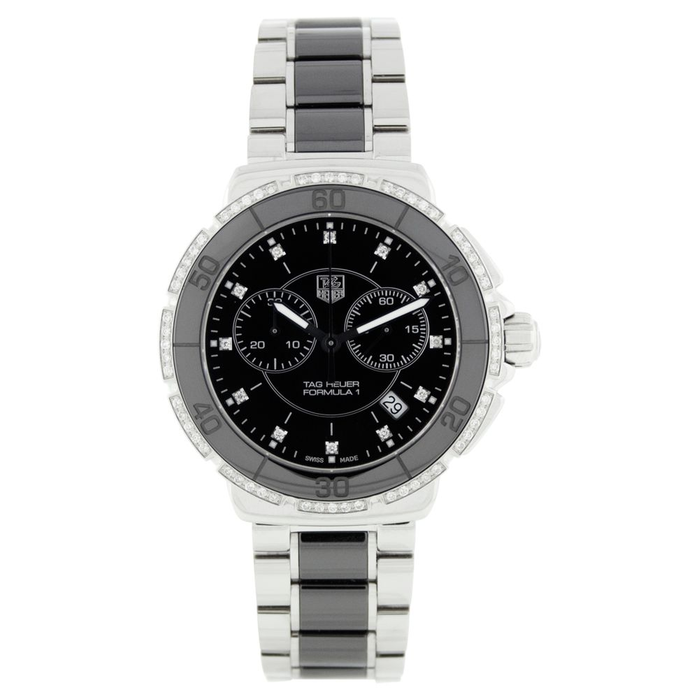 613-078 - Tag Heuer Men's Formula 1 Swiss Quartz Chronograph Ceramic & Stainless Steel Bracelet Watch