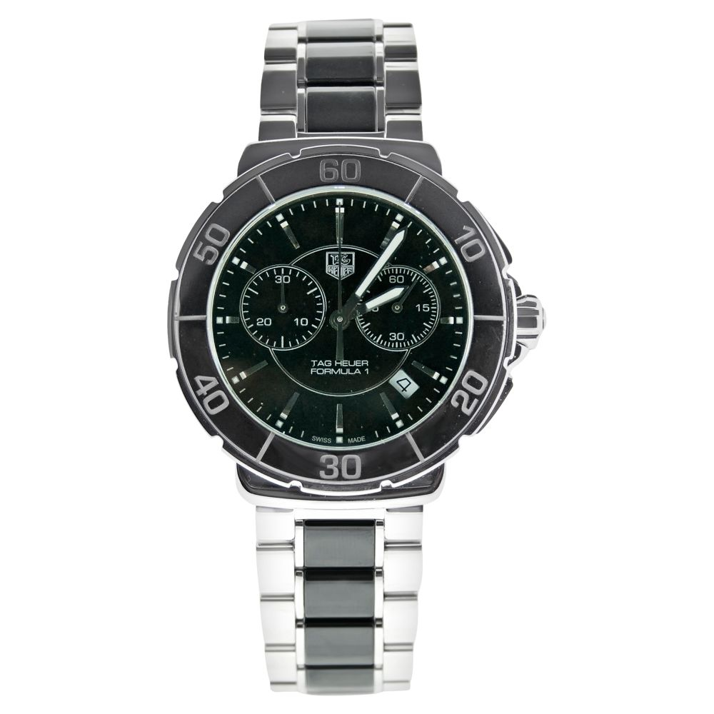 613-326 - Tag Heuer Men's Formula 1 Swiss Made Quartz Chronograph Stainless Steel Bracelet Watch